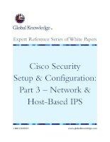 Tài liệu Cisco Security Setup & Configuration: Part 3 – Network & Host-Based IPS doc