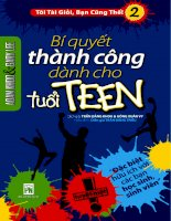 Bí quyết thành công cho tuổi teen