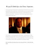 Tài liệu Bí quyết lãnh đạo của Tony Soprano pdf