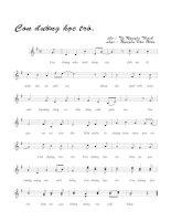 Tài liệu Bài hát con đường học trò - Nguyễn Văn Hiên (lời bài hát có nốt) doc