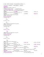 Tài liệu Trắc nghiệm hóa học 11 luyện thi pptx