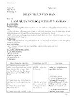 Bài giảng Giao an tin hoc ky II 3 cot theo chuan