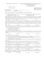 Bài soạn đề thi thử lần 2 BGD