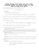 Tài liệu Ứng dụng của Đại số vào việc chứng minh và phát hiện ra các bđt trong tam giác docx