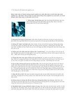 Tài liệu 10 lời khuyên để thành sếp nghiêm túc pdf