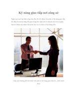 Tài liệu Kỹ năng giao tiếp nơi công sở docx