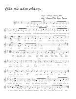 Tài liệu Bài hát cho dù năm tháng - Phạm Trọng Cầu (lời bài hát có nốt) ppt
