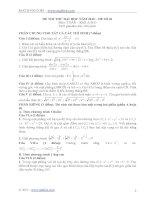 Tài liệu Đề thi và đáp án thi thử môn Toán khối A-B-D cao đẳng-đại học doc