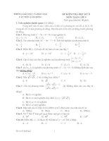 Tài liệu Bộ đề tham khảo kiểm tra học kỳ môn toán lớp 9 đề 5 docx