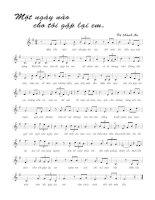 Tài liệu Bài hát một ngày nào cho tôi gặp lại em - Vũ Thành An (lời bài hát có nốt) docx