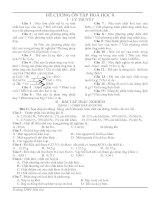 Tài liệu ĐỀ CƯƠNG ÔN TẬP HOÁ HỌC 8 pptx