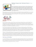 Tài liệu Kiến thức sử dụng máy tính: Thuần phục Windows docx