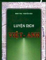 Tài liệu Luyện dịch Việt- Anh ppt