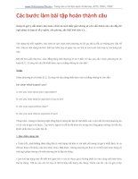 Các bước làm bài tập hoàn thành câu