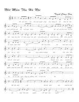 Tài liệu Bài hát nhớ nhớ mùa thu hà nội - Trịnh Công Sơn (lời bài hát có nốt) doc