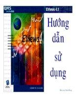 Tài liệu Marketing skills - Hướng dẫn sử dụng Eview ppt