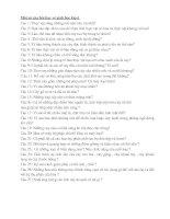 Gián án Câu hỏi sinh lớp 6 - HK II
