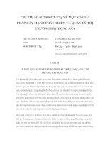 Tài liệu CHỈ THỊ SỐ 01/2008/CT-TTg VỀ MỘT SỐ GIẢI PHÁP ĐẨY MẠNH PHÁT TRIỂN VÀ QUẢN LÝ THỊ TRƯỜNG BẤT ĐỘNG SẢN pptx