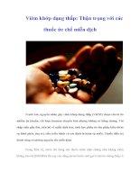Tài liệu Viêm khớp dạng thấp: Thận trọng với các thuốc ức chế miễn dịch doc