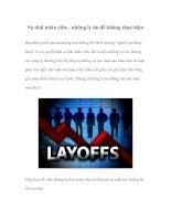 Tài liệu Sa thải nhân viên - những lý do để không thực hiện docx