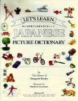 Japanese picture dictionary - Từ điển tiếng Nhật bằng hình ảnh.