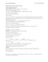 Tài liệu Các phương pháp giải phương trình vô tỷ 1 pdf