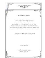 Quá trình tranh chấp giữa xiêm   anh ở bán đảo mã lai và xiêm   pháp ở bán đảo đông dương từ thế kỷ XVI đến cuối thế ký XIX luận văn tốt nghiệp đại học