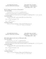 Bài soạn Đề kiểm tra 45 phút chương I - GT12