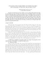 Gián án Chuyên đề: Ứng dụng CNTT trong giảng dạy