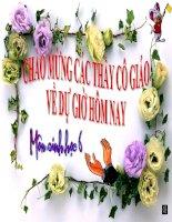 Tài liệu Tiết 44: Tổng kết về cây có hoa( T2)