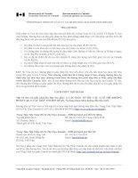Tài liệu Thông Tin và hướng dẫn xin thị thực nhập cảnh du học Canada ppt