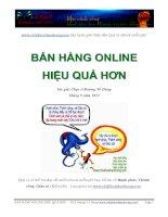 Ebook -  Bán hàng online hiệu quả hơn