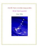 Tài liệu Chủ Đề: Nước và các hiện tượng tự nhiên - Đề tài: Nước ở quanh bé pptx