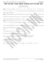 Một số bài toán hình phẳng hay và đặc sắc