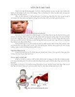 Tài liệu Nôn ói ở trẻ docx