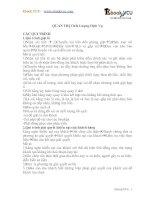 ĐỀ CƯƠNG ÔN TẬP MÔN QUẢN TRỊ CHẤT LƯỢNG DỊCH VỤ