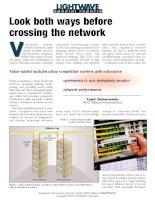 Tài liệu Look both ways before crossing the network doc