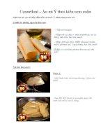 Tài liệu Cannelloni – Ăn mì Ý theo kiểu nem cuốn pptx