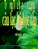 Gián án CAU LAC BỘ 22-12 KHỐI 4