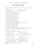 Tài liệu Bài 3 : Dung dịch - Sự điện li doc