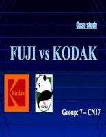 Tài liệu Bài tiểu luận môn marketing giữa Fuji và Kodak doc
