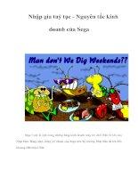 Tài liệu Nhập gia tuỳ tục - Nguyên tắc kinh doanh của Sega doc