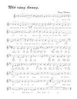 Tài liệu Bài hát nhớ rừng hoang - Trọng Khương (lời bài hát có nốt) pdf
