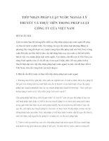 Tài liệu TIẾP NHẬN PHÁP LUẬT NƯỚC NGOÀI: LÝ THUYẾT VÀ THỰC TIỄN TRONG PHÁP LUẬT CÔNG TY CỦA VIỆT NAM pdf