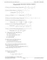 bài tập bất đẳng thức