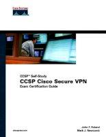 Tài liệu CCSP Cisco Secure VPN P1 pptx