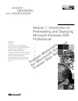 Tài liệu Module 1: Introduction to Preinstalling and Deploying Microsoft Windows 2000 Professional doc