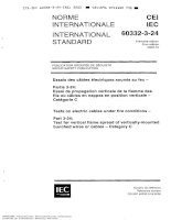 iec 60332-3-24 tests on electric cables under fire conditions - test for vertical flame spread of