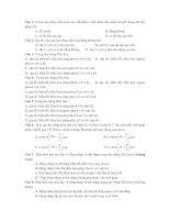 Tài liệu Câu hỏi trắc nghiệm Vật lý ppt