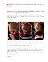 4 kiểu búi thấp cực đơn giản cho mái tóc mùa đông